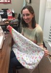 Lindsey and her first Beginning Sewing Project