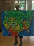 This super quilt of the United States will be on a special 3 year old grandsons wall!