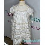 Girls heirloom lace dress in swiss batiste