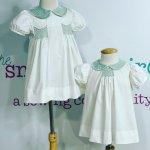 Boys smocked button on suit