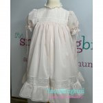 Heirloom lace and eyelet baby daygown
