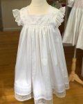 Girls lace and swiss batiste heirloom dress