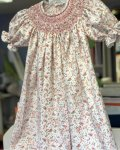 Girls lace and swiss batiste with puffing heirloom dress