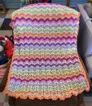 Baby Blanket finished from Vintage Crochet Blanket Class
