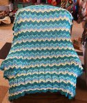 Afghan finished by Laura Apgar from Vintage Crochet Blanket Class