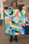 Megan - her first quilt - Love it.