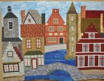 Florence Evans, Brugge, Art Quilt 3rd