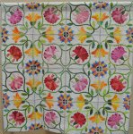 Nancy Henderson, Flower Garden Tiles, Applique-Hand 1st, Jean Christensen Hand Quilting