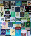 Mosaic style T-Shirt Quilt made using Pa Festival of the Arts T-Shirts