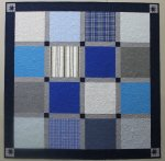 Traditional Style T-Shirt quilt made with flannel shirts