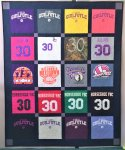 T-Shirt quilt - traditional style, Bishop Guilfoyle High School