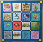 T shirt quilt for the Jimmy buffet fan!