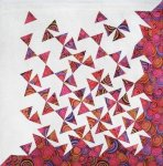Tumbling Triangles Quilt. Made using the Studio 180 Design V-Block tool