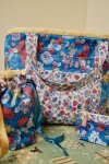 3 fabric Knitting Bag Set
