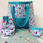 2 Fabric Knitting Bag and 2 extra free accessories