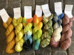 Some of the beautiful colors of Round Mountain Fibers