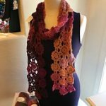 Churchmouse Yarns - Flowers Scarf
