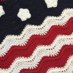 Patriotic Waves Lapghan (crochet)