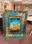 Stonehenge panel quilt by Jane