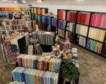 Rainbow Wall at Indigo Quilt Studio