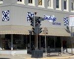 New Indigo Quilt Studio sign!