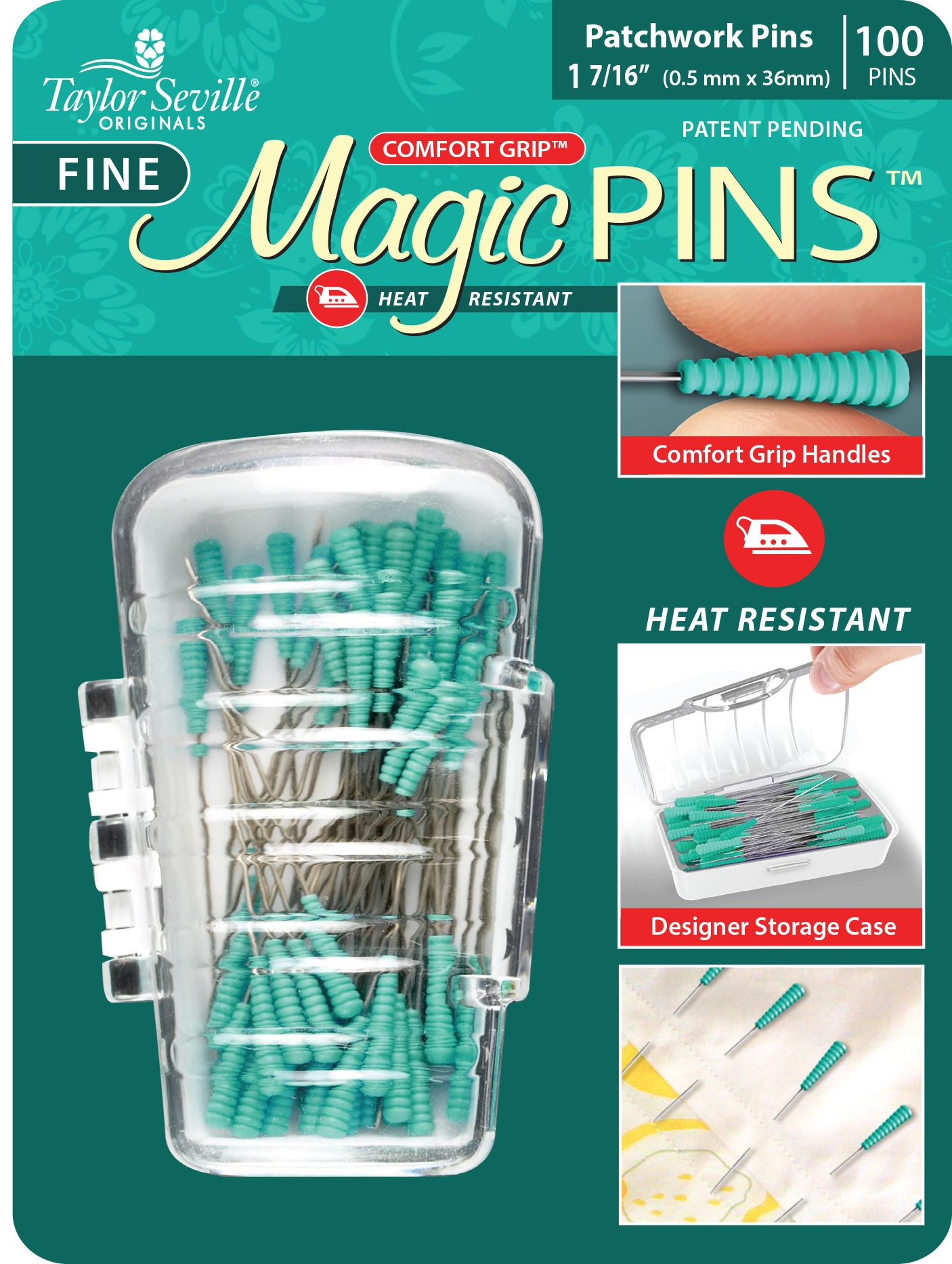 Fine Magic Pins Patchwork - 100 Pins