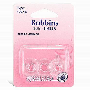 Singer Bobbin, 66K, Drop in type 120.14 Plastic - 3 per package