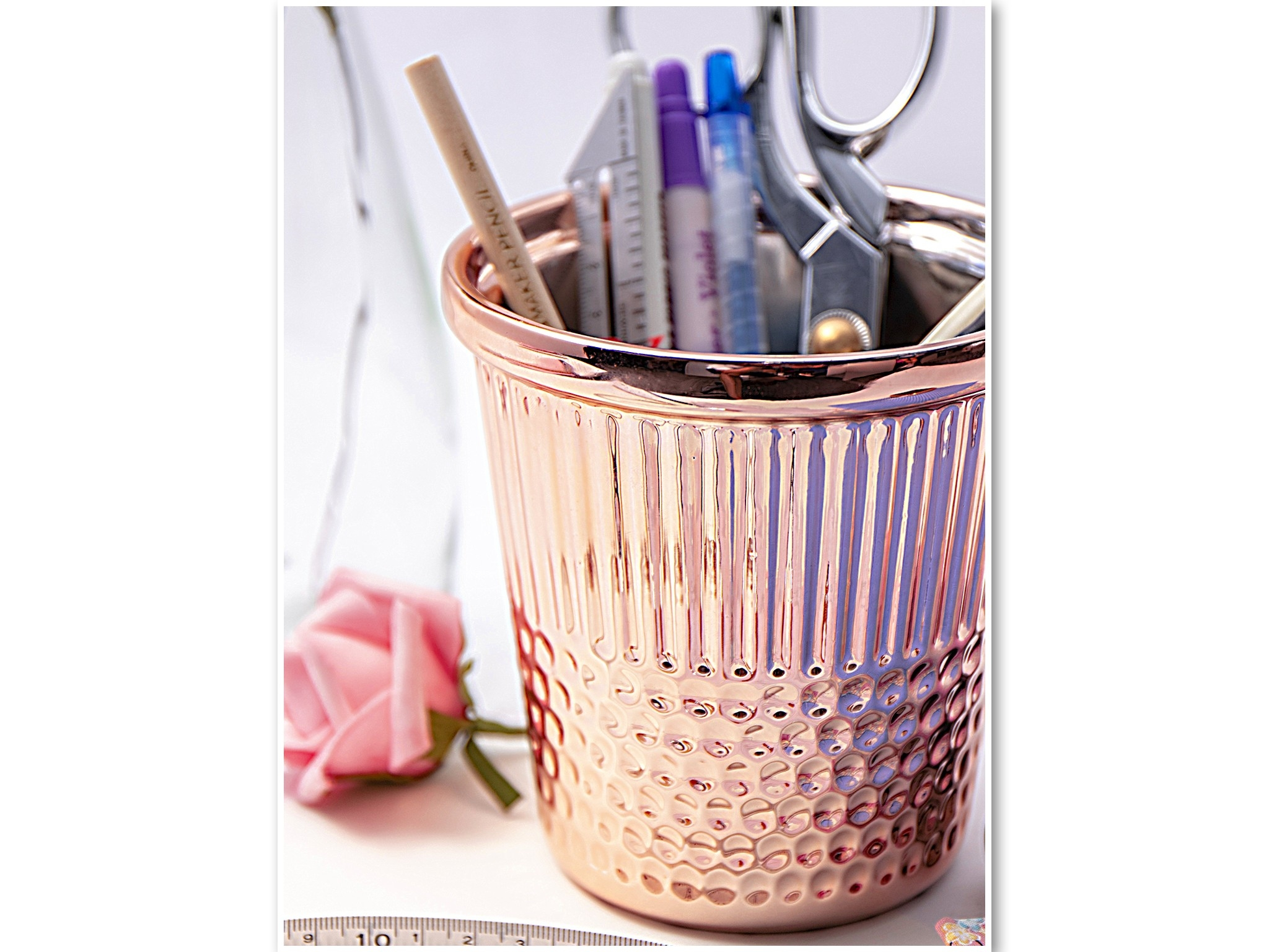 Rose Gold Thimble Craft Container