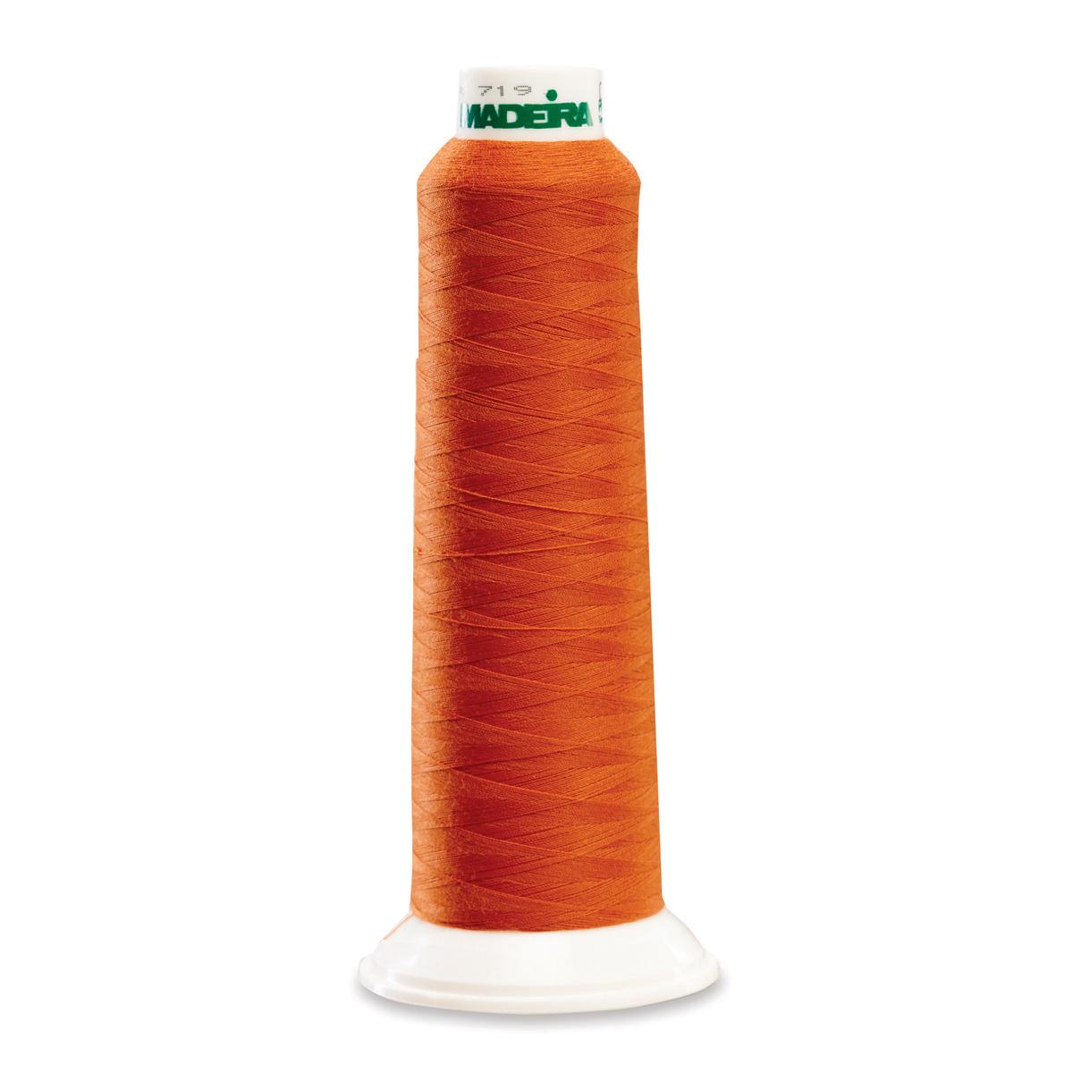 8651 Pumpkin Poly Serger Thread Madeira Aerolock
