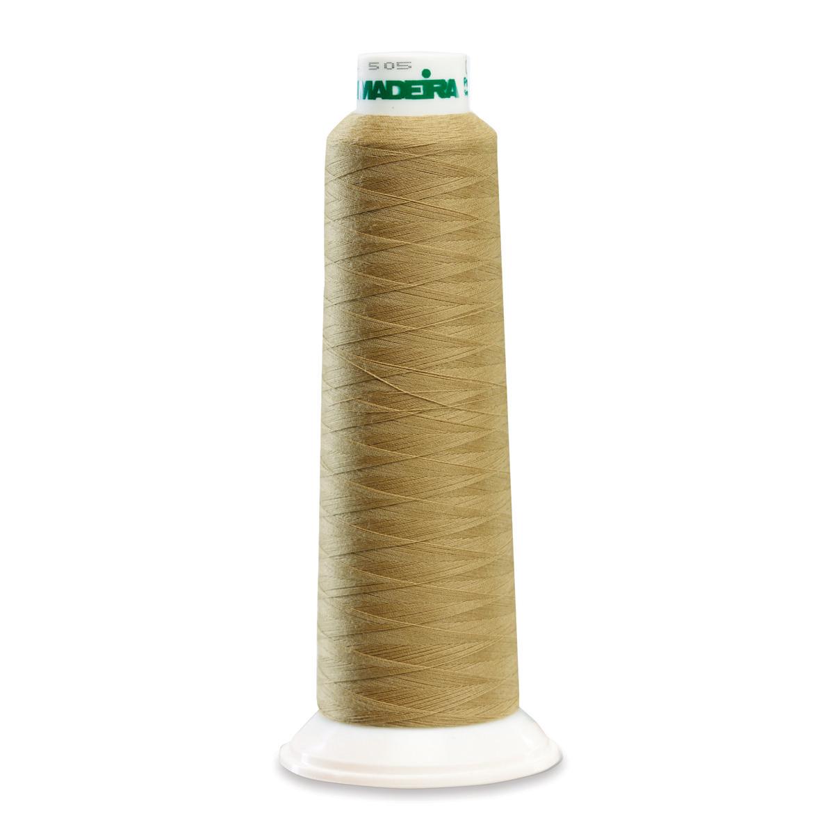 9939 Khaki Poly Serger Thread Madeira Aerolock