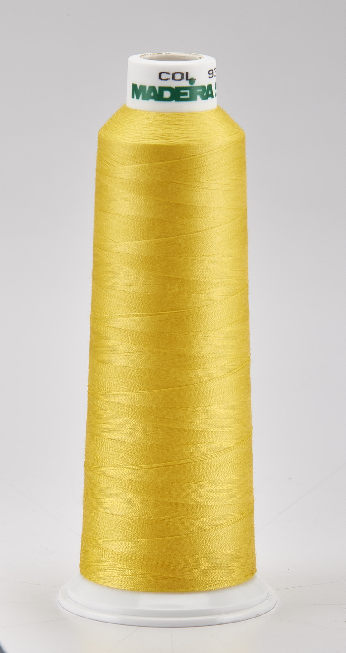 Madeira Yellow Aeroquilt 3000 Yd Cone Poly Quilting Thread