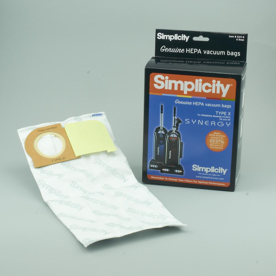 SIMPLICITY # SXH-6  SYNERGY BAGS  X9 , G9