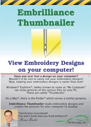 EMBRILLIANCE THUMBNAILER EMBROIDERY SOFTWARE EMBROIDERY SOFTWARE