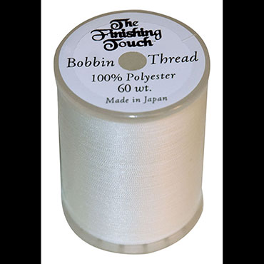 THE FINISHING TOUCH 60WT BOBBIN THREAD WHITE