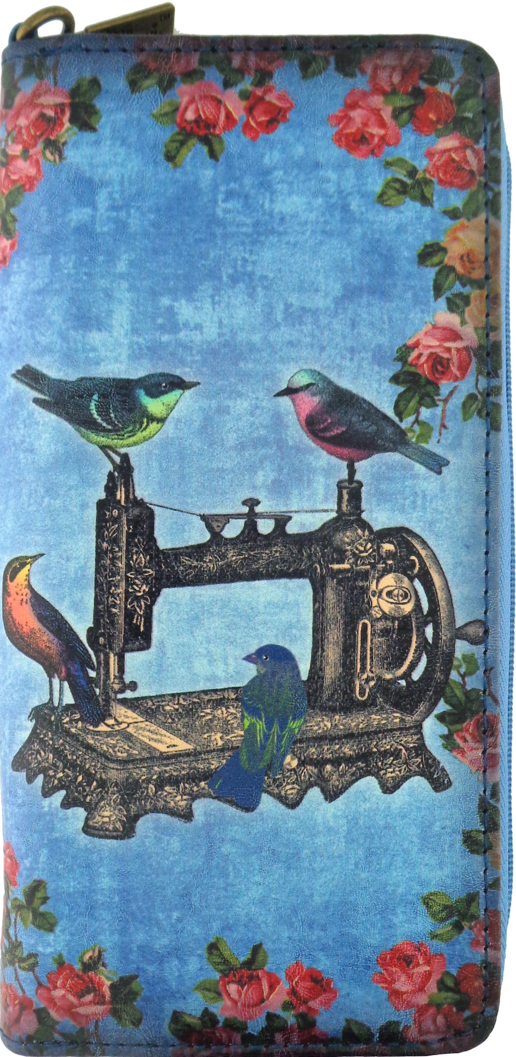Floral Birds Sewing Machine/Scissor Wallet