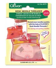 CLOVER DESK NEEDLE THREADER PINK