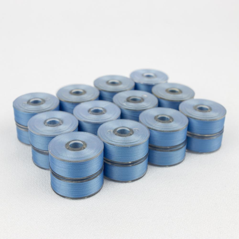 Wonderfil DecoBob 319 Sky Blue Prewound Bobbins Size M - 24 Pack 210 yd