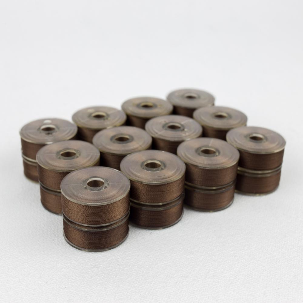 Wonderfil DecoBob 403 Brown Prewound Bobbins Size M - 24 Pack 210 yd