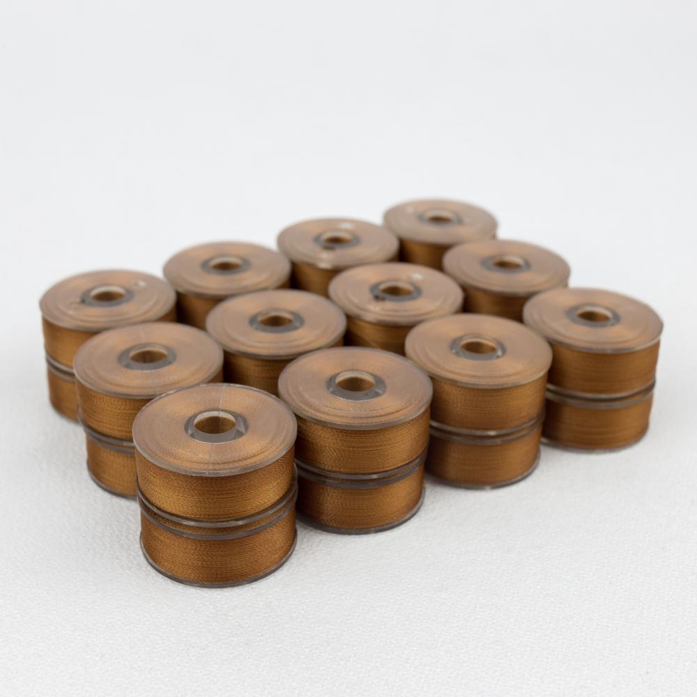 Wonderfil DecoBob 416 Dark Copper Prewound Bobbins Size M - 24 Pack 210 yd