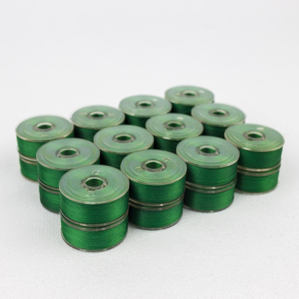 Wonderfil DecoBob 501 Evergreen Prewound Bobbins Size M - 24 Pack 210 yd