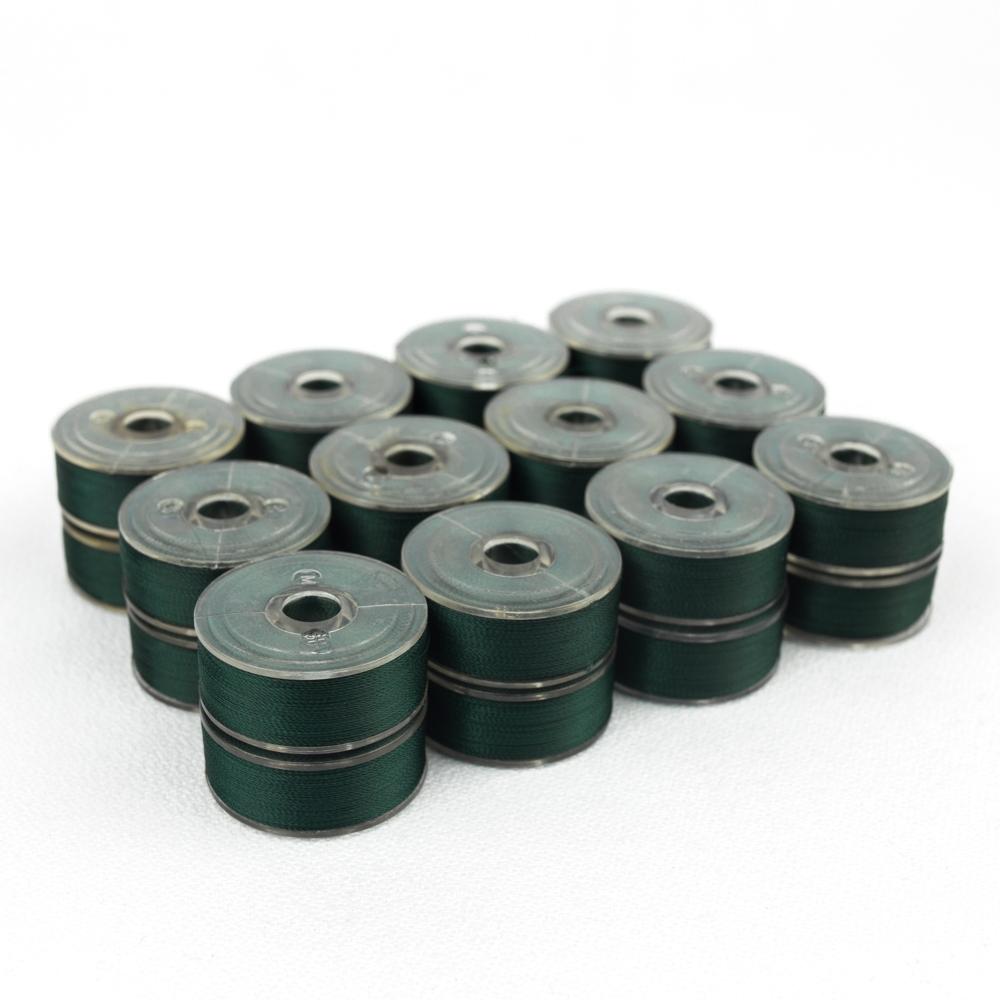 Wonderfil DecoBob 509 Dark Green Prewound Bobbins Size M - 24 Pack 210 yd