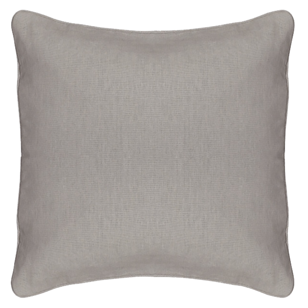 EB Embroider Grey Pillow 14 X 14 Cover & Foam Insert