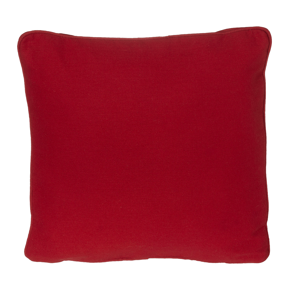 EB Embroider Red Linen Pillow 14 X 14 Cover and Foam Insert
