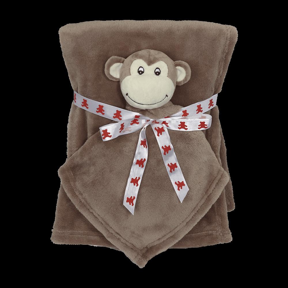 Embroider Buddy Blankey Set - Monkey