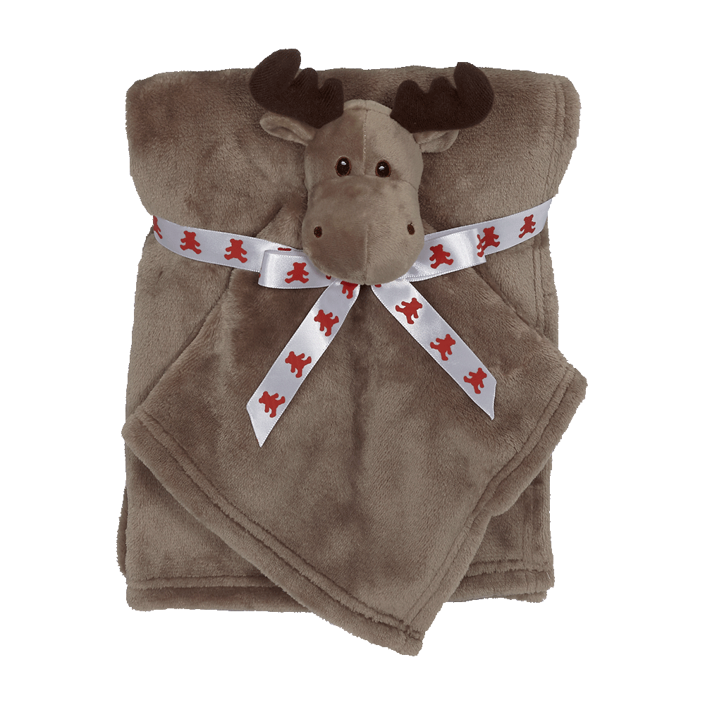 Embroider Buddy Blankey Set - Moose