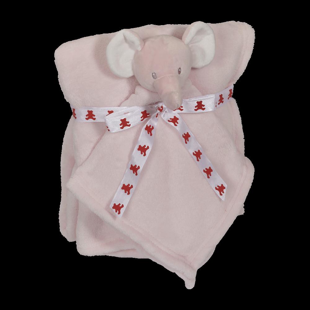 Embroider Buddy Blankey Set - Pink Elephant