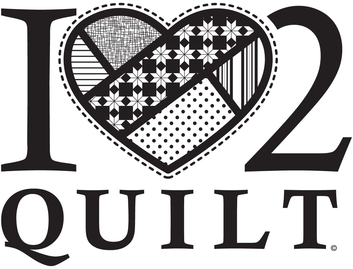 I Heart 2 Quilt Window Decal