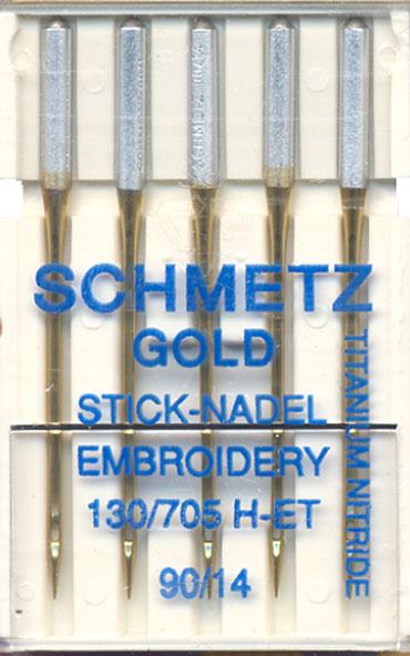 SCHMETZ TITANIUM EMBROIDERY NEEDLE SIZE 14 5 TO PACK