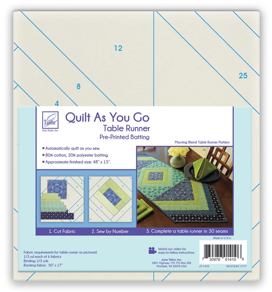 Quilt As You Go Table Runner - Morning Blend