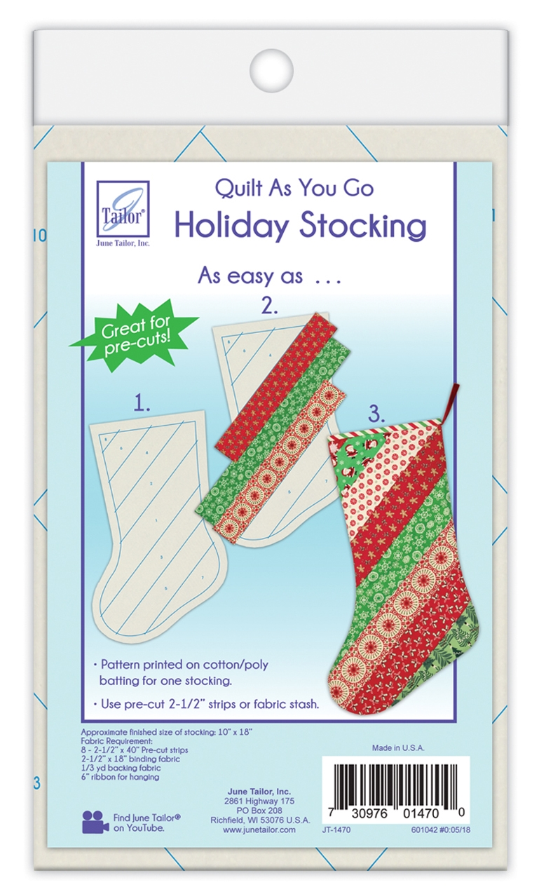 Quilt As You Go Holiday Stocking
